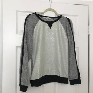 Collective Concepts- Mint Green Foil Knit Sweater